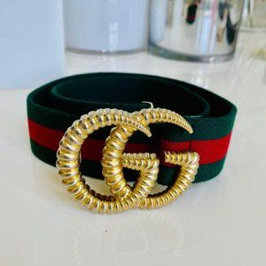 Gucci Gold and Silver Hardware Belt